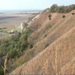 The high relief terrain of the Loess Hills, overlooking the Missouri River floodplain